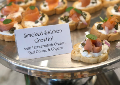 Rococo Catering Smoked Salmon Crostini